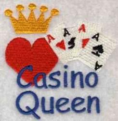 Casino Queen embroidery design