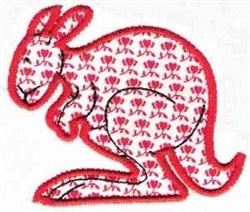 Applique Kangaroo embroidery design
