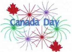 Canada Day embroidery design