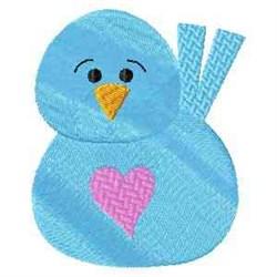 Frosty Bird embroidery design