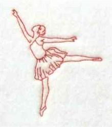 Redwork Ballerina embroidery design