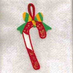 Candy Cane Ornament embroidery design