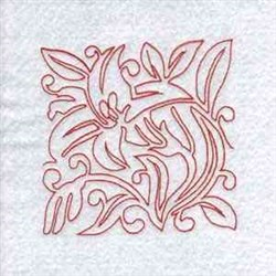 Line Art Lily Block embroidery design