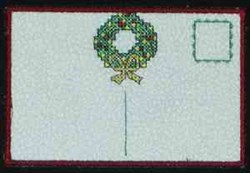 Wreath Postcard Back embroidery design