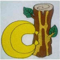 Animal Alphabet  Lowercase D embroidery design