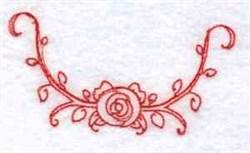 Redwork Rose Border embroidery design