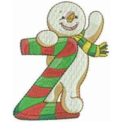 Christmas Font Letter Z embroidery design
