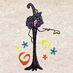 Whimsical Witch embroidery design