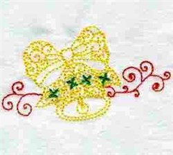 Xmas Bell Line Art embroidery design