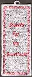 FSL Sweetheart Bookmark embroidery design