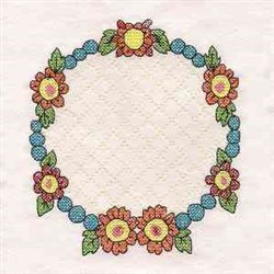 Sweet Friendship Wreath embroidery design