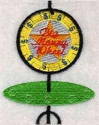 Gambling Wheel embroidery design