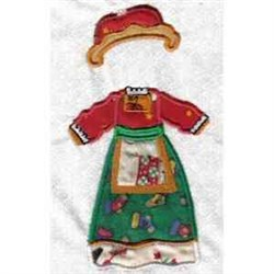 Xmas Paper Doll Clothes embroidery design
