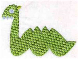 Fun Serpent Shape embroidery design