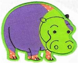 Applique Hippo embroidery design