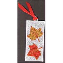 FSL Leaves Bookmark embroidery design