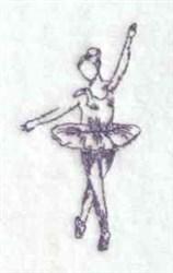Bluework Ballet embroidery design