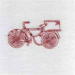 Redwork Vintage Bike embroidery design