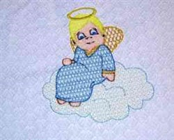 Funny Angel embroidery design