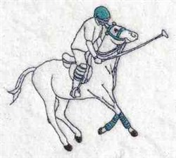 Horseback Polo embroidery design