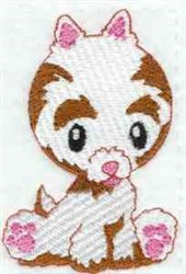 Silky Pup embroidery design