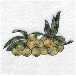 Cross Stitch Olive Plant embroidery design