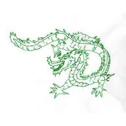 Greenwork New Year Dragon embroidery design