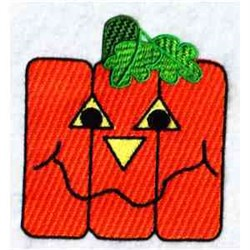 Funky Pumpkin embroidery design