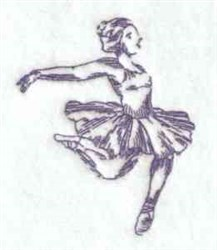 Bluework Ballerina embroidery design