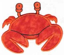 Applique Crab embroidery design