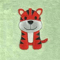 Jungle Tiger Quilt Block embroidery design