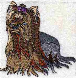 Yorkie Terrier embroidery design