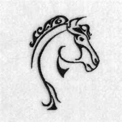 Wild Horse Head embroidery design