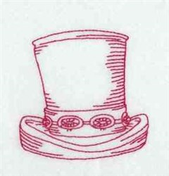 Redwork Hat embroidery design