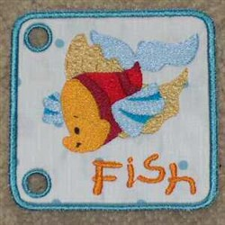 Sea Book Fish embroidery design