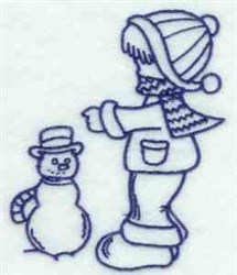 Bluework Winter Bonnet Boy embroidery design