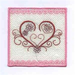 Heart Candlewrap embroidery design