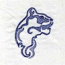 Wild Cat Head embroidery design