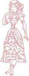Vintage Victorian Lady embroidery design