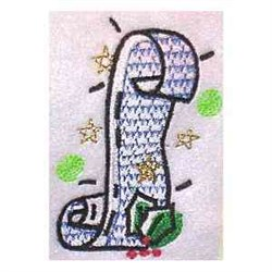 Santa List embroidery design