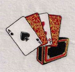 Lets Play Cards embroidery design