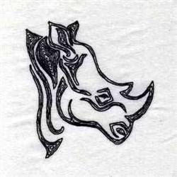 Wild Thing Rhino embroidery design