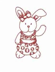 Redwork Rabbit embroidery design