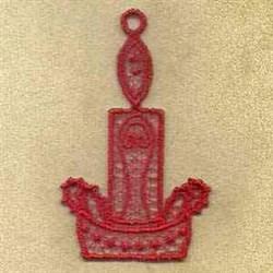 FSL Candle Ornament embroidery design