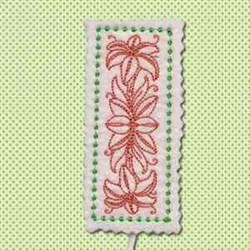Lily Bookmark embroidery design