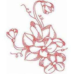 Redwork Violets embroidery design