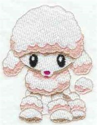 Poodle Puppy embroidery design