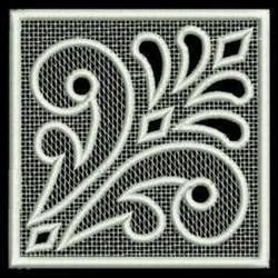 FSL Floral Lace Square embroidery design