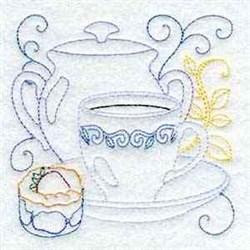 Teapot And Teacup embroidery design