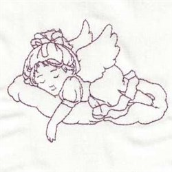 Redwork Child Angel embroidery design